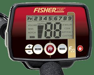 Fisher F22 metaaldetector