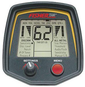 Fisher F75 metaaldetector - display